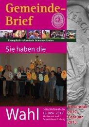 Gemeindebrief 05/2012 - Evangelisch-reformierte Kirche