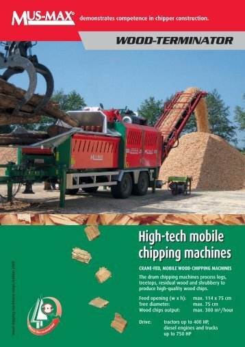 High-tech Mobile Chipping Machines - Woodfuel Machinery