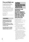 Sony HDR-PJ410 - HDR-PJ410 Istruzioni per l'uso Serbo - Page 2