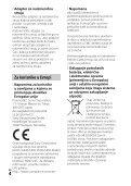 Sony HDR-PJ410 - HDR-PJ410 Istruzioni per l'uso Serbo - Page 4