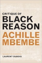 BLACK REASON ACHILLE MBEMBE