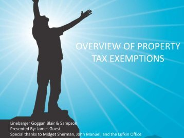 OVERVIEW OF PROPERTY TAX EXEMPTIONS