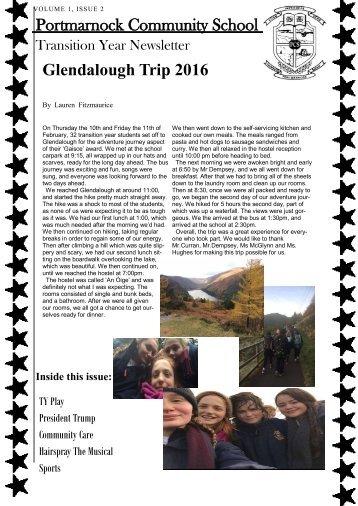 Portmarnock Community School Glendalough Trip 2016