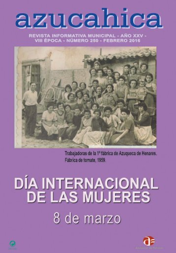 INFORMATIV TIVA MUNICIPAL - AÑO XXV - VIII ÉPOCA - NÚMERO 250 - FEBRERO 2016