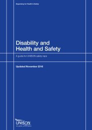 Disability and Health and Safety