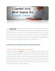 3 ESSENTIAL FACTS ABOUT PROSTATE CANCER SURGERY