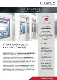 Use Case Foyerüberwachung - Raumüberwachung - Intenta S2000