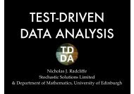 TEST-DRIVEN DATA ANALYSIS