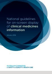 National guidelines for on-screen display of clinical medicines information