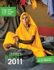 Jahresbericht 2011 - Welthungerhilfe