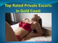 Top Rated Private Escorts in Gold Coast