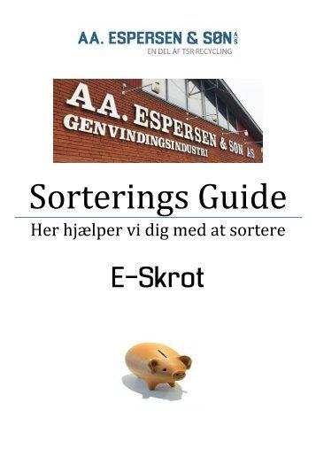 Sorterings Guide - A5 - E-skrot