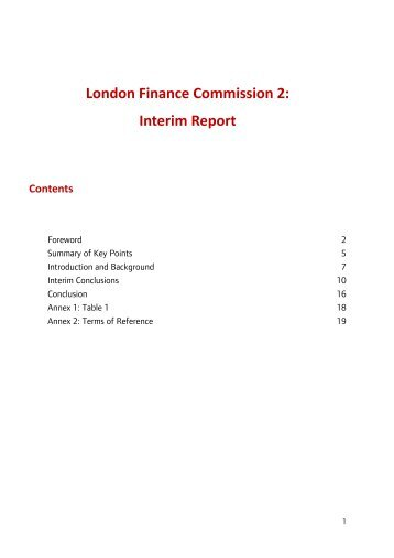 London Finance Commission 2 Interim Report