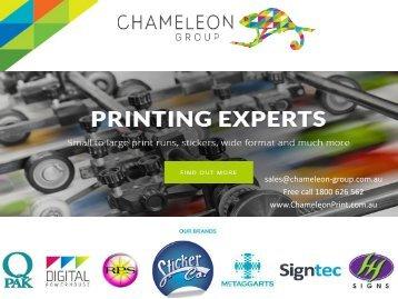 Chameleon Print Group Hervey Bay - Australia