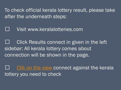 We distribute Kerala lott