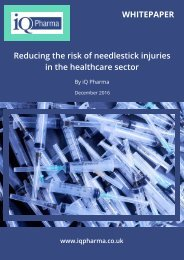 Reducing the risk of needlestick injuries in the healthcare sector