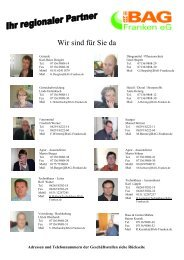 Standorte BAG-Franken