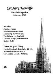 St Mary Redcliffe Church Parish Magazine - February 2017