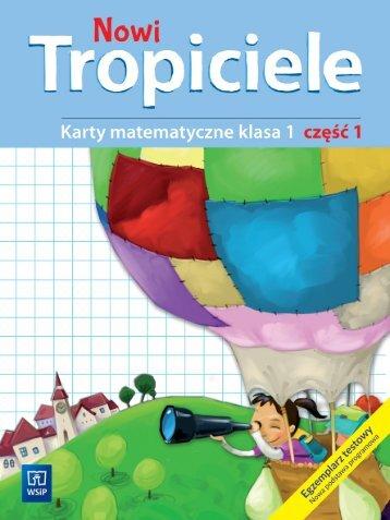 Nowi Tropiciele Karty matematyczne kl 1 cz1