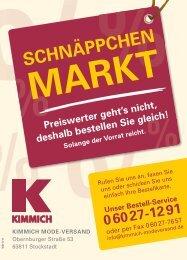 Kimmich Mode-Versand | Der Schnäppchen-Markt