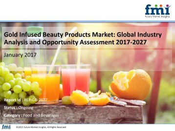 Gold Infused Beauty Products Market Dynamics, Segments and Supply Demand 2017-2027