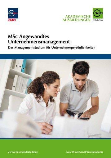 MSc Unternehmensmanagement