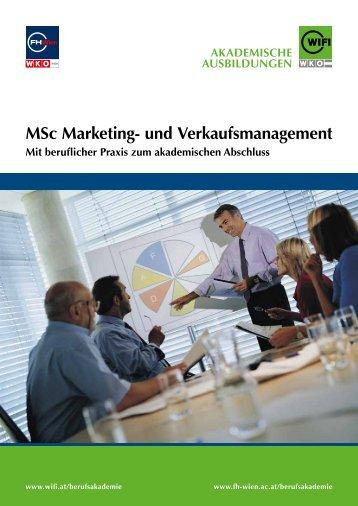 MSc Marketing- und Verkaufsmanagement