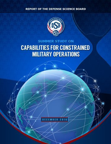 CAPABILITIES FOR CONSTRAINED MILITARY OPERATIONS