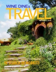 WINE DINE & TRAVEL MAGAZINE ISSUE 2  2016 issue