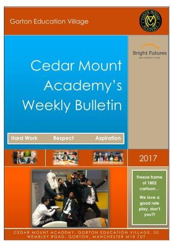 Cedar Mount Academy's Weekly Bulletin
