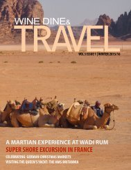 WINE DINE & TRAVEL MAGAZINE ISSUE 3 2016