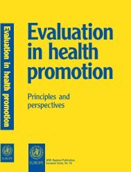 Evaluation in health promotion : principles and perspectives / edited