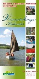 2011 Kalender Veranstaltungs - Ilmtal-Urlaub