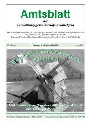 Im Amtsblatt - Verwaltungsgemeinschaft Kranichfeld