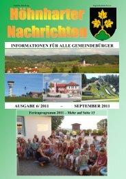 informationen für alle gemeindebürger ausgabe 6/ 2011 - Höhnhart