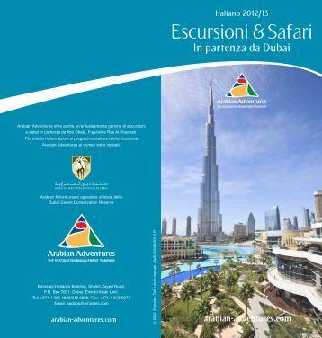 Escursioni Safari da Dubai