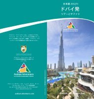 Tours & Safaris from Dubai (japanese)