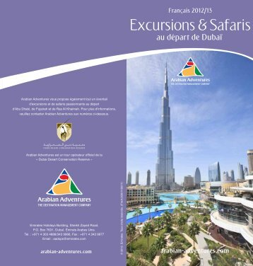 Excursions & Safaris de Dubai