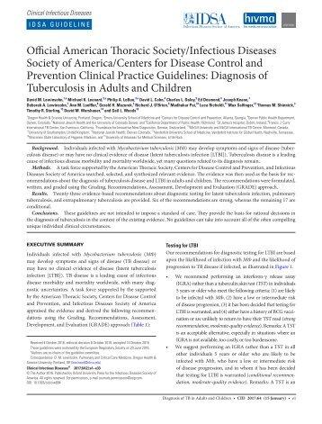 diagnostic recommendations vaccination recommendation