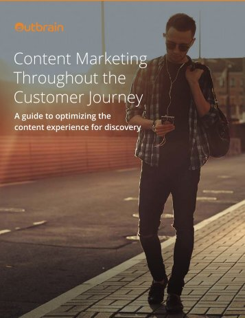 Content Marketing Throughout the Customer Journey