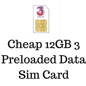 Buy 3 Data Sim Card in Cheap Price
