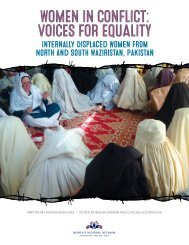 WOMEN IN CONFLICT VOICES FOR EQUALITY