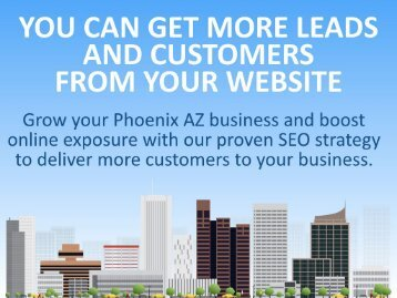 Phoenix SEO by Coronation Internet Marketing (480) 630-0104