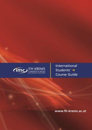 EXPORT-ORIENTED MANAGEMENT - IMC Fachhochschule Krems