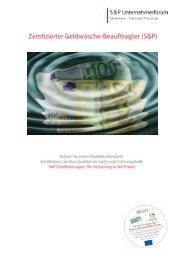 Zertifizierter Geldäwsche-Beauftragter - Lehrgang S&P