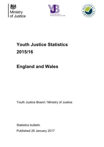 Youth Justice Statistics 2015/16 England and Wales