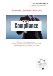 Seminar Compliance - Zertifizierter-Compliance-Officer - S&P Lehrgang