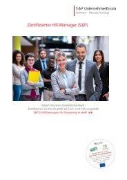 Seminar Personal - Zertifizierter Personaler - HR Manager - S&P Lehrgang