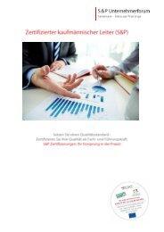 Zertifizierter Kaufmännischer Leiter - S&P Lehrgang