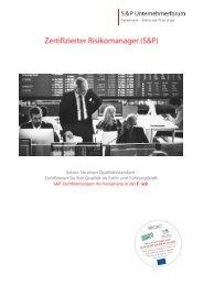Seminar Geschäftsführer - Zertifizierter Risikomanager - Lehrgang S&P